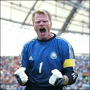 """Oliver Kahn, Germany (6/15/1969), Goalkeeper (Bayern Munich). Themes: Fear & Supervision. Reason: Perhaps the most terrifying yet consistently brilliant goalkeeper in the history of the game, """"King Kahn"""" is the only goalkeeper to be awarded the Golden Ball at a World Cup (2002). Equally intimidating to teammates and opponents alike, the aggressive and acrobatic Kahn owned the penalty area."""
