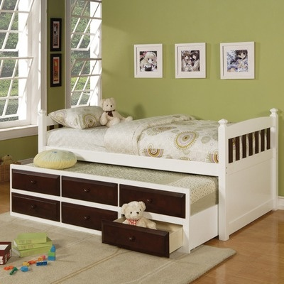 Wildon Home Captain's Bed with Trundle and Storage Drawers: Lowell Sky, Beds, Captains Bed, Storage Drawers, Kids, Bedroom Ideas, Trundle Bed
