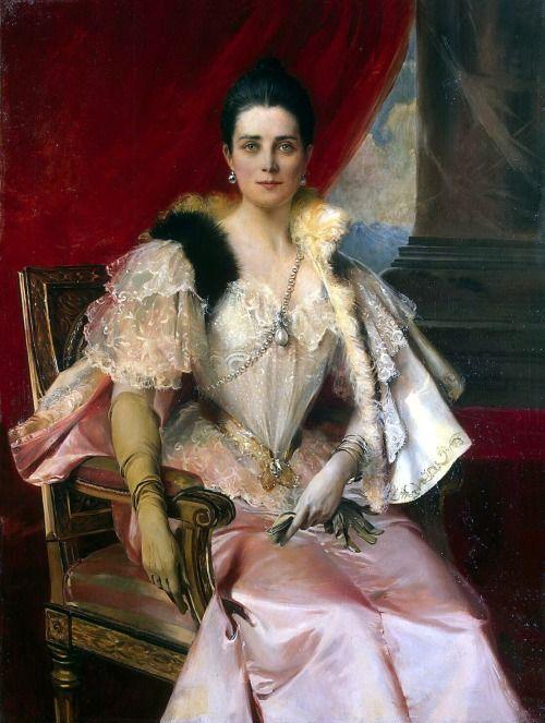 Portrait of Princess Zinaida Nikolaevna Yusupova - Francois Flameng 1894