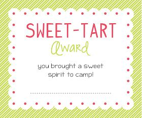Sugar Fresh: Young Women Girls Camp Awards: Free Printables