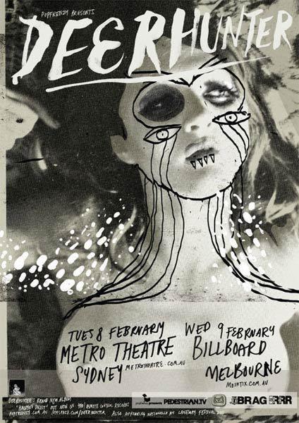 Deerhunter concert poster by Webuyyourkids