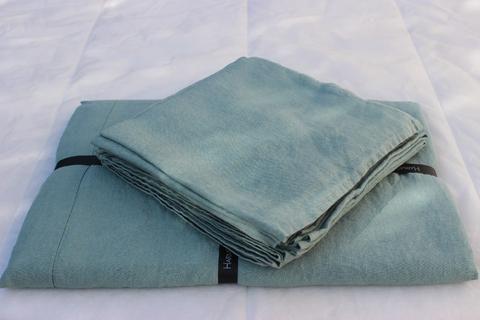 Harmony - Serviette de table en lin lavé Nais - Celadon - 41x41 cm - Home Beddings and Curtains