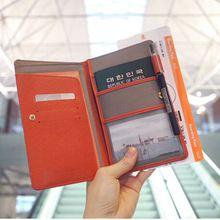 Анти-размагничивания кожи паспорт с длинным владельцем паспорта путешествия кредитных карт держатель пакет ID дорожные принадлежности OP2005(China (Mainland))