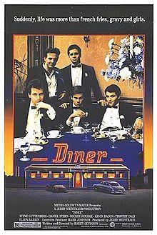 Diner (1982) Steve Guttenberg, Daniel Stern, Mickey Roarke, Kevin Bacon, Ellen Barkin, Paul Reiser