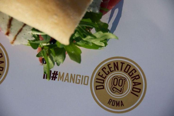 #mangiaduecentogradi #roma #panini