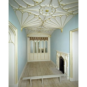 Room designed by James Wyatt.  Made between 1783 - 1794 in Bath, England.  That is awesome.