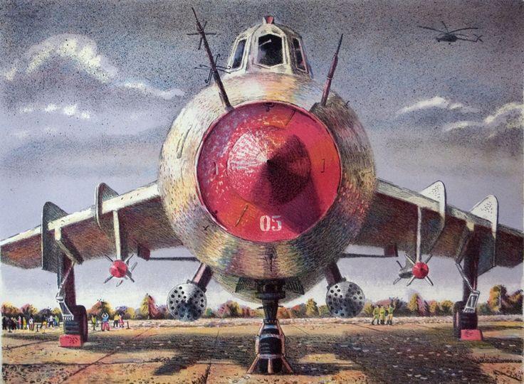 """Картину можно приобрести на сайте www.d-mansion.ru """"Циклоп"""" 58х43см Серий цветных литографий про ожившие самолеты """"Обитатели неба"""""""