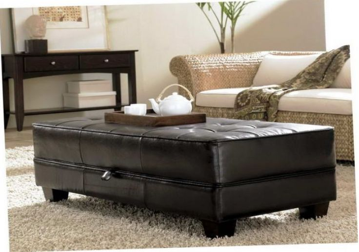 Top 25 Ideas About Black Leather Ottoman On Pinterest Traditional Library Furniture Black