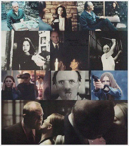 Clarice Starling and Hannibal Lecter