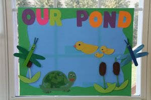 Pond craft for kids!