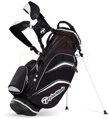 "TaylorMade Pure Lite 3.0 Stand Bag (Black/White) by TaylorMade. Save 60 Off!. $79.95. Walk Lighter, Walk Longer With The Pure Lite 3.0 Stand Bag! At only 5.1 lbs, the Pure-Lite 3.0 is TaylorMade's lightest full-size stand bag. Walk lighter, walk longer and perform at your best with the newly upgraded anti-fatigue strap system. Rethink your bag's performance. TaylorMade Pure-Lite 3.0 Stand Bags feature: Weight: 5.1 lbs Top Dividers: 5-way Top Diameter: 9.5"" Pockets: 8 Updated integrated top…"