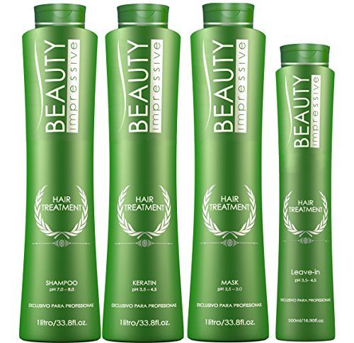 Brazilian Keratin Hair Treatment Professional Strength  4 Products Shampoo1L Keratin 1L Mask 1L Leavein 500ML 15 applications *** Continue to the product at the image link.
