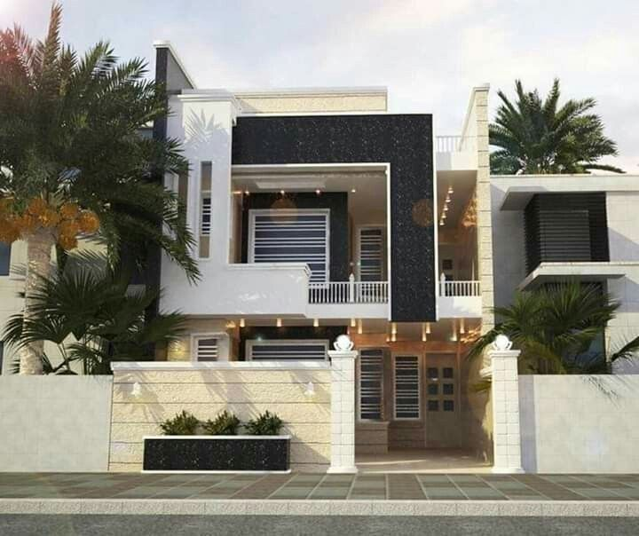 Top 30 Most Beautiful Houses Front Designs 2019 To See More Visit House Front Design House Front Bungalow House Design