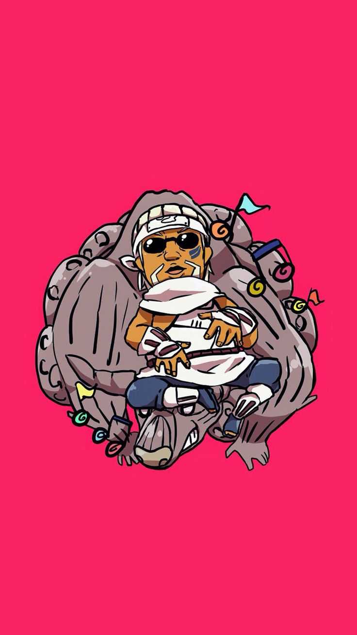 Killer Bee and Gyuuki the Hachibi. Tap image for more Cute Jinchūriki Bijuu Naruto Shippuden Characters Wallpapers Collection. - Wallpaper for iPhone 5/5s/5c, iPhone 6/6 Plus @mobile9 #anime #manga