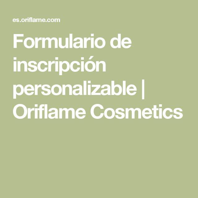Formulario de inscripción personalizable | Oriflame Cosmetics