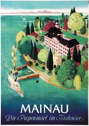 Mainau - Die Tropeninsel im Bodensee. Gutschow. 1952.