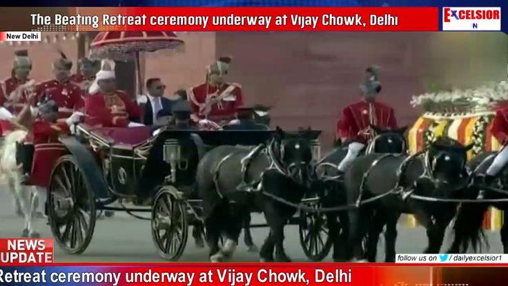 The Beating Retreat ceremony underway at Vijay Chowk Delhi