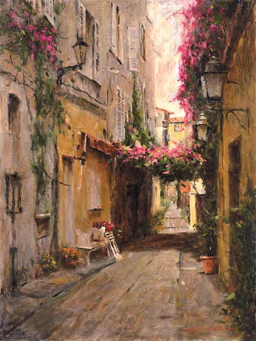 Art by Leonard Wren, American impressionist. I kind of think I have a thing for impressionist art.