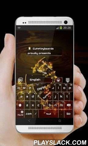 """Gold Music GO Keyboard  Android App - playslack.com ,  Dit is de GO Keyboard """"Gold Music"""" thema door CuteKeyboards.Gold Music.Het vinden van inspiratie in de muziek, liedjes en melodie, dit GO Keyboard thema geslaagd om een zeer prachtige verschijning gekleurd in zeer donkere bruine nuances krijgen.Als iemand om wat voor reden, voor muziek of voor de film, wordt beroemd, het is omdat ze iets, iets speciaals hebben.Kleuren kunnen een grote impact hebben op iemands stemming, dus dit thema…"""