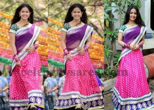 Avikagor in Designer Pink Half Saree | Saree Blouse Patterns