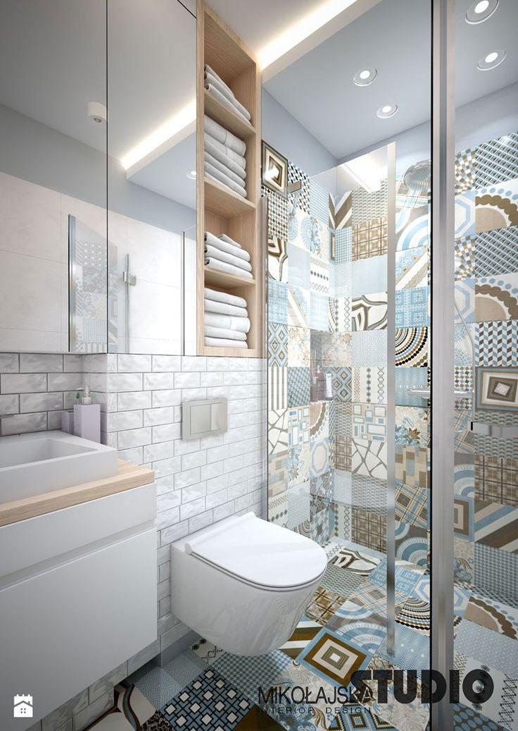 pastelowa łazienka - zdjęcie od MIKOŁAJSKAstudio - Łazienka - Styl Nowojorski - MIKOŁAJSKAstudio