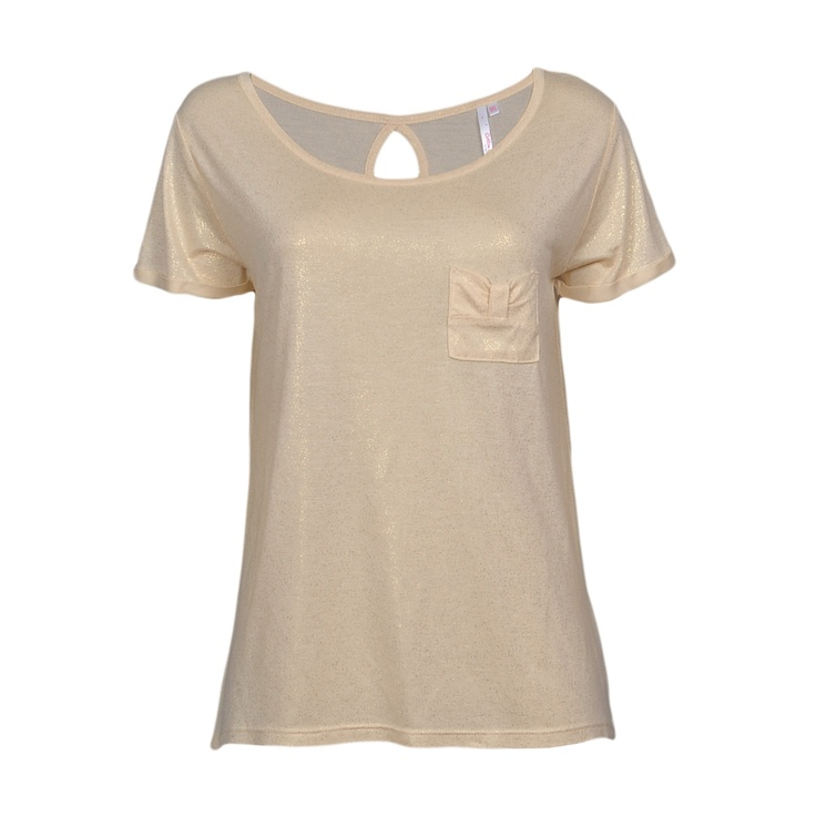 Silvery T-Shirt (Nude/Gold)
