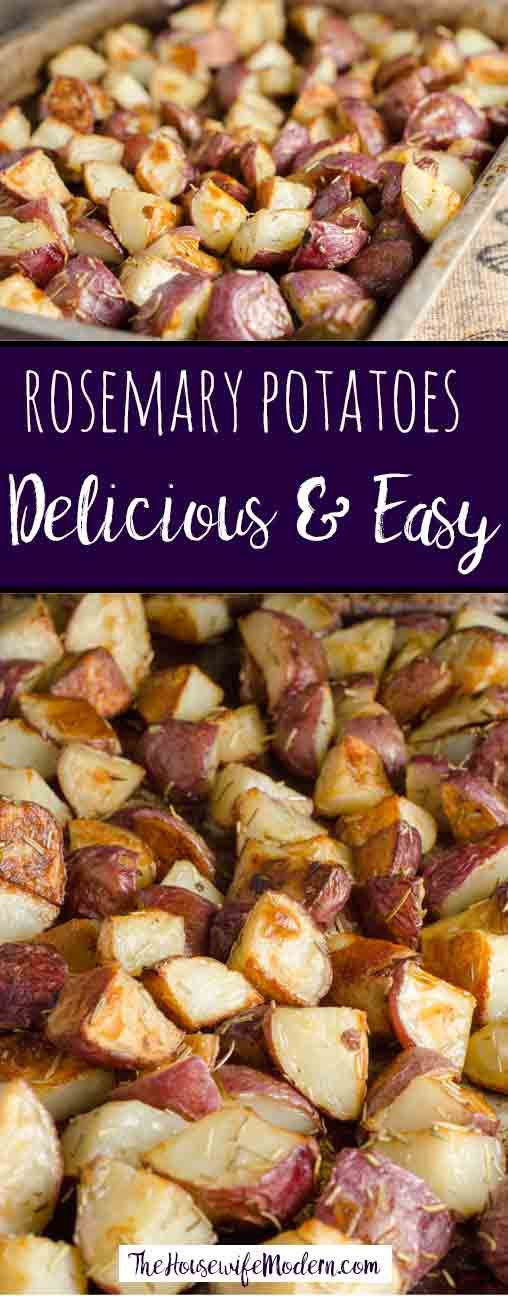 Easy Roasted Potatoes with Rosemary. Delicious balance of crispy, salty outside and soft, tender inside. Rosemary potatoes- easy and versatile.