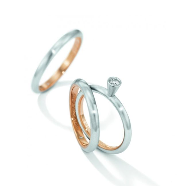 Henrich & Denzel - Petite Diamond Engagement Ring