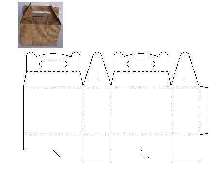 Moldes de cajas de carton corrugado infantiles - Imagui