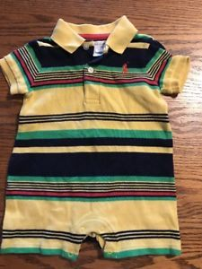 Ralph Lauren Baby Boys Size 3 Months Striped One Piece Polo Outfit  | eBay