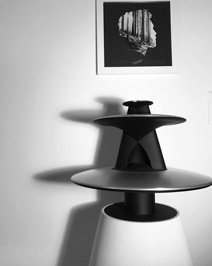 Amazing shot shared by Erik Vonagar on Instagram! Black & White picture with BeoLab 5 complementing the home decor of a Scandinavian interior!