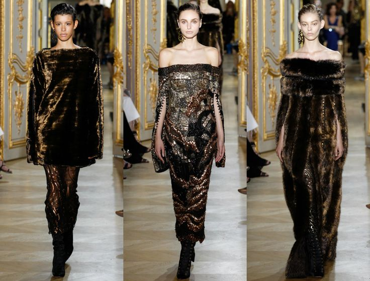 элегантные прически высокая прическа Couture осень 2016 года