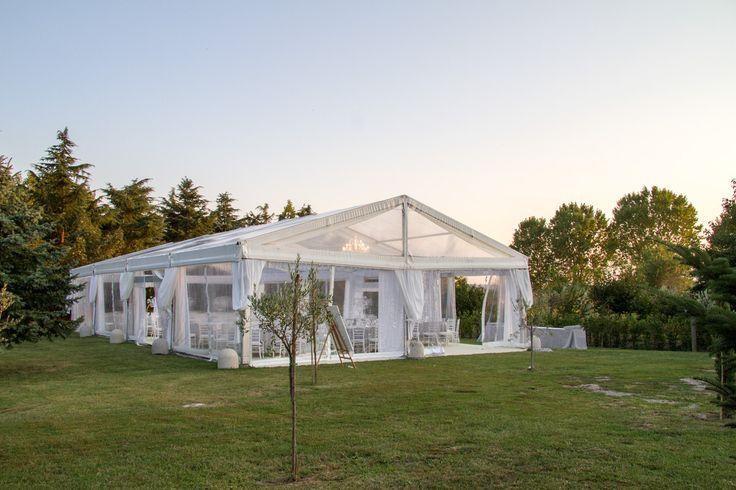 Tensostruttura Crystal a noleggio - Preludio Noleggio attrezzature per catering, matrimoni ed eventi speciali.