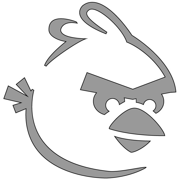 Red_Bird - angry birds pumpkin carving stencil