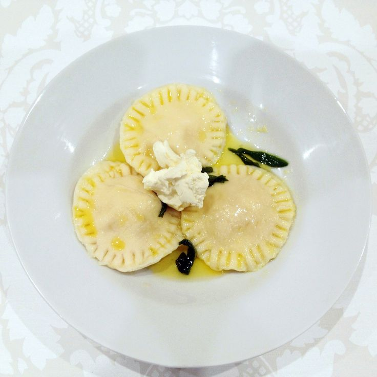 Ravioli is a type of traditional Italian pasta made from filling that is wrapped between two layers of pasta dough and served in a broth or sauce. It is traditionally home made and the filling can range from meats, seafood, vegetables, cheeses and many more.