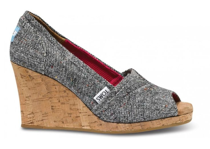 Not a fan of regular Toms but these are awesome -- Wedges - Silver Karsen Women's Wedges   TOMS.com