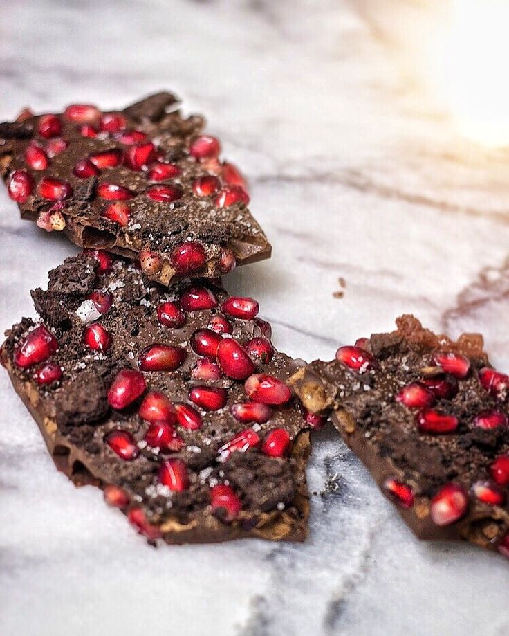 Dark Chocolate Bark with Pomegranate, Sea Salt, and Chocolate Cookie Crumbs   Kneading Home