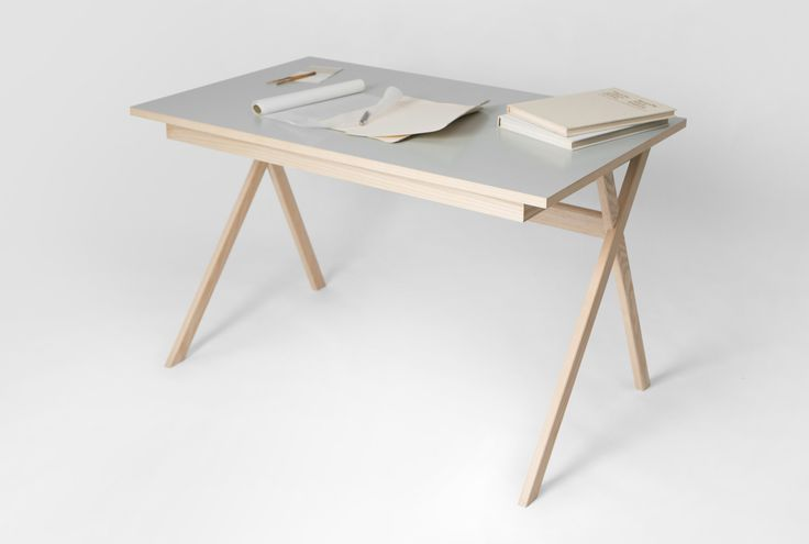 Atelier Desk is a minimal desk created by Germany-based designers Studio Böttger. The desk is a functional and light table made from ash wood. The large drawer with individual compartments provides storage for laptop, papers, books or pens. Thus, the covered table surface remains clear and tidy. The drawer can be opened wide and offers a lot of space even for large paper formats. The individual parts of the table can be quickly and easily assembled, dismantled and can be stowed together…