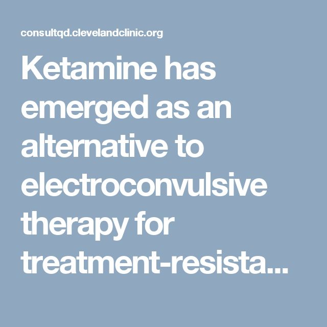 Ketamine has emerged as an alternative to electroconvulsive therapy for treatment-resistant depression, but no study has compared the two. A major research project led by Cleveland Clinic is changing that.