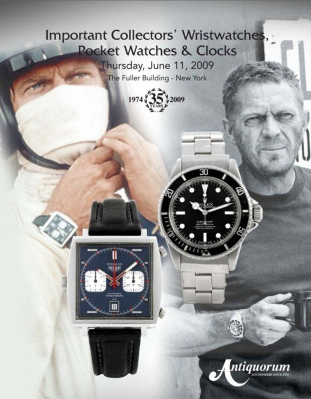 Steve McQueen. He knows his watches: Tag Heuer, Rolex ...