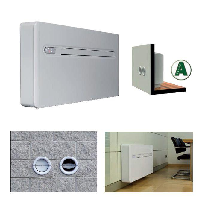 Sistema de climatizacion bomba de calor monobloc 2 0 air for Aire acondicionado sin unidad exterior