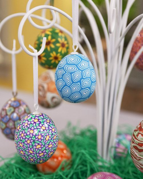 How to create beautiful Easter eggs out of polymer clay    #Easter #EasterEggs