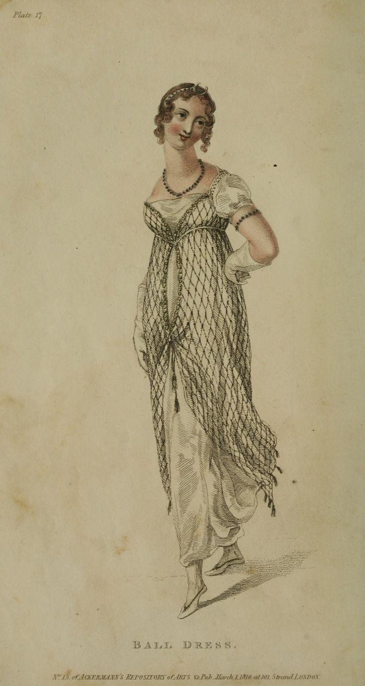 Ackermann's Repository, ball dress, 1810