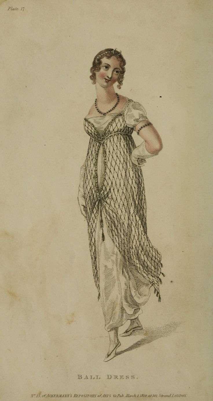 Ackermann's Repository, ball dress, 1810