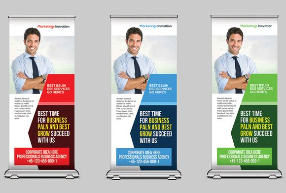 Medical Health Rollup Banners by Business Templates on Creative Market