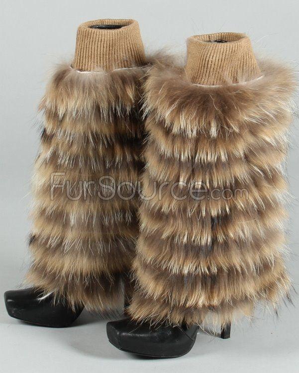 Fur Leg Warmers - Raccoon Fur