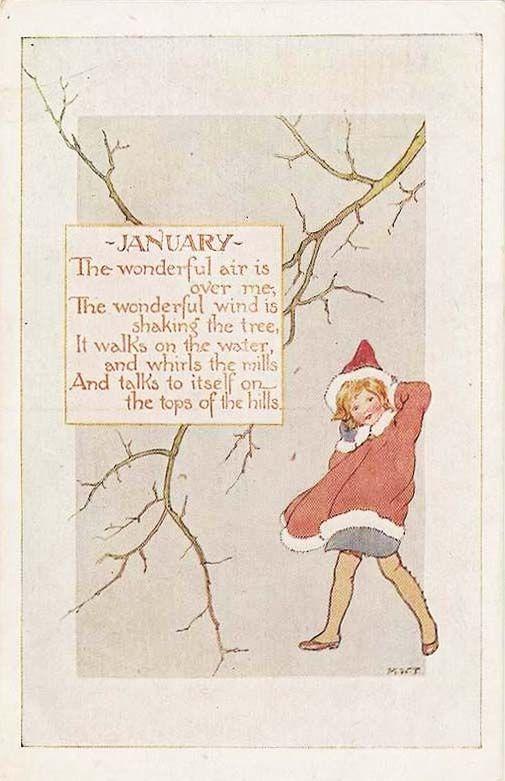 Margaret Tarrant (English, 1888-1959). January. (postcard