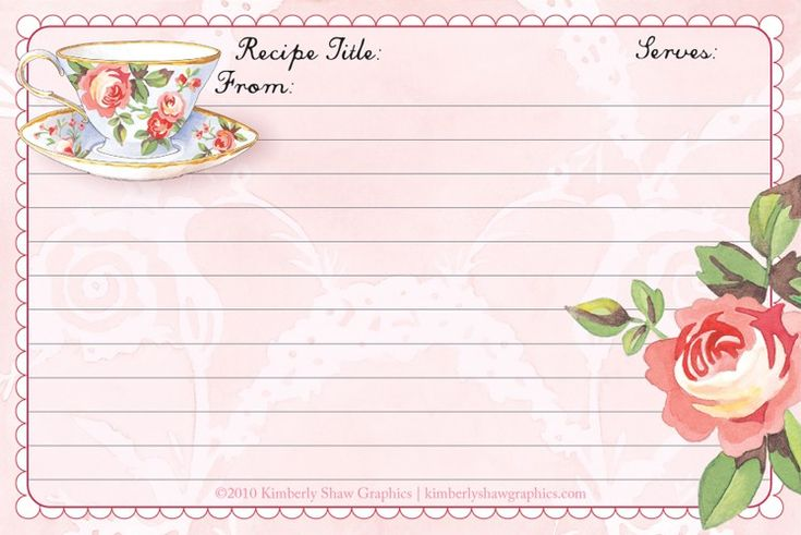 recipe card - (Image only)