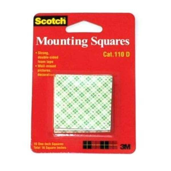 "Scotch Mounting 3M Tape 110-D (Double Tape) 1"" square - Jual Double Tape Kotak Kuat & Murah (eceran)  A double-coated foam tape that adheres and conforms to a variety of surfaces. Faster, safer, and more versatile than screws or nails,  http://tigaem.com/scotch-tape/346-scotch-mounting-3m-tape-110-d-double-tape-1-square-jual-double-tape-kotak-kuat-murah-eceran.html  #scotch #doubletape #perekat #3M"
