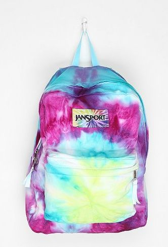 Tie-dye Jansport backpack for school.  #MyJansportbackpacks